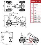 Berg Jeep Revolution BFR Skelter Afmetingen