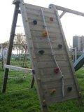 Aanbouwelement voor schommel met klimmuur en klimnet hoog of laag